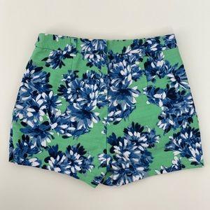 J.CREW • floral high-waisted shorts • sz 00